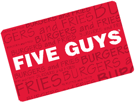 five guys gift cardTR15L